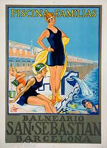 BARCELONA SPAIN TRAVEL ANTIQUE POSTER A0 SIZE PRINT FOR YOUR FRAME