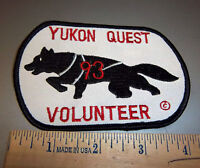 1993 Alaska Yukon Quest 1000 mile Dog Sled Race Embroidered Patch