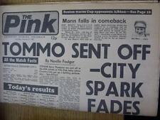 27/02/1982 Coventry noche telegráfico periódico: Aston Villa V Coventry City & B