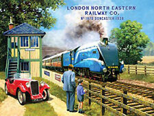 Mallard, Locomotive Steam Train, 4468 LNER Railway, Car, Large Metal/Tin Sign