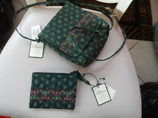 Vera Bradley Swing handbag and matching coin purse in Classic green  NWT