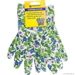 Womens Ladies Floral Garden Gloves Gardening General Working Gloves