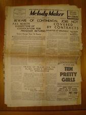 MELODY MAKER 1937 AUG 28 PETER MAURICE TEN PRETTY GIRLS