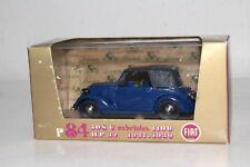 BRUMM DIECAST #R84 1937-1939 FIAT 508C CABRIOLET 1100, 1:43, EXCELLENT, BOXED