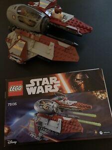 Lego Star Wars 75135 Obi-Wan's Jedi Interceptor 100% Complete No Box