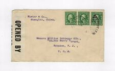 US 1 cent Washington stamps on Cover From US Postal Agency Shanghai China