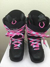 L.E. Ride Limited Edition Pink Laced Neon Snowboarding Snowboots US 9 UK 8
