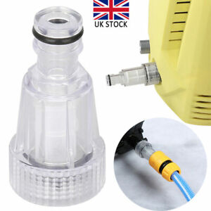 """Clear Heavy Duty Pressure Washer Inlet Filter 3/4"""" Car Water Plastic Filter Tool"""