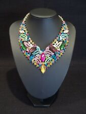 AUSTRIAN HAND CRAFTED MULTI STONE SET CRYSTAL NECKLACE CASED.