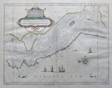 c1642 PERU Original 17th Century Map by BLAEU