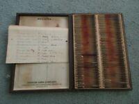 Vintage Box of Tissue Specimen Microscope Slides - Detroit College of Medicine