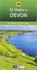 AA ____ 50 WALKS IN DEVON ___ BRAND NEW ___ 2017 REPRINT ____ FREEPOST UK