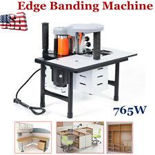New listing Edge Banding Machine Portable Wood Pvc Two-sided Gluing Edge Bander FedEx Usa