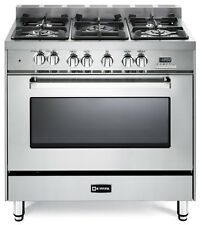 "Verona VEFSGE365NSS 36"" Pro-Style Dual Fuel Gas Range Stainless Steel"