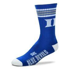 Duke Blue Devils Crew Socks Medium Size 5 to 10 4 Stripe