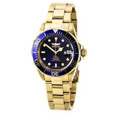 Reloj Pulsera Invicta 8930 Para Hombres Acero Automático Esfera Azul Dorado