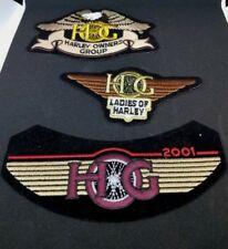 2001 HOG HARLEY OWNERS GROUP LADIES OF HARLEY EAGLE IRON ON 3 NEW PATCHES