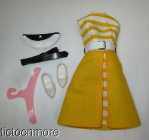 VINTAGE IDEAL TAMMY DOLL CLOTHES SUNNY STROLLERS DRESS BELT SHOES #9051 COMPLETE