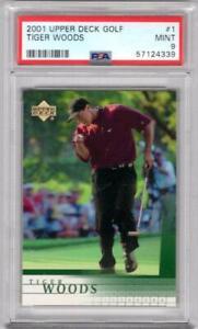 2001 Upper Deck Golf Tiger Woods #1 PSA 9 W10