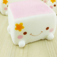 Cute Soft Chinese Squishies Tofu Expression Smile Face Toy Best