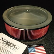 14x4 Air Cleaner Filter Assembly Ford Cleveland 302 351 Replaces K&N Falcon