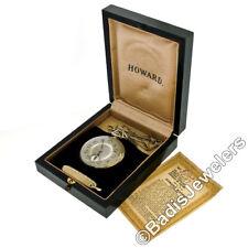 Antique Rare E. Howard & Co. 14K Gold 17j Pocket Watch Original Chain Knife Box