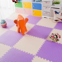 12PC Soft EVA Foam Pad Interlocking Home Gym Garage Kids Play Exercise Floor Mat