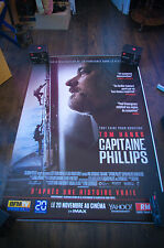 CAPTAIN PHILLIPS 4x6 ft Bus Shelter D/S Movie Poster Original 2013
