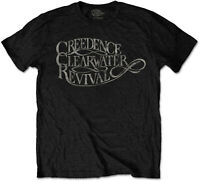 CREEDENCE CLEARWATER REVIVAL Classic Vintage Band Logo T-SHIRT OFFICIAL MERCH