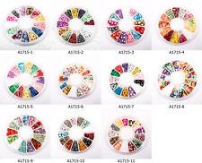 11-Styles (1320pcs) Polymer Clay Wheel DIY Decor Fimo Nail Tips Art Slice A1715
