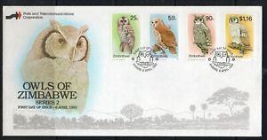 Zimbabwe FDC stamps birds