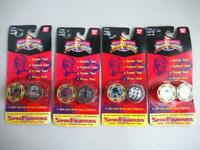 Mighty Morphin Power Rangers SPIN FIGHTERS 4 Sets Plus Mystery Bonus Spinner #1