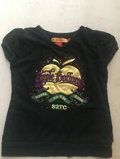 Aplle Bottoms Junior Girl Black T Shirt Size 5/6
