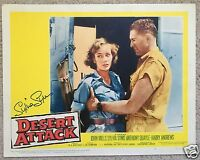 SYLVIA SYMS SIGNED ICE COLD IN ALEX LOBBY CARD  - UACC & AFTAL RD AUTOGRAPH