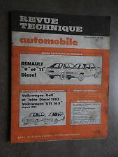 REVUE TECHNIQUE AUTOMOBILE RTA RENAULT R9 R11 VW VOLKSWAGEN GOLF GTI JETTA 1983