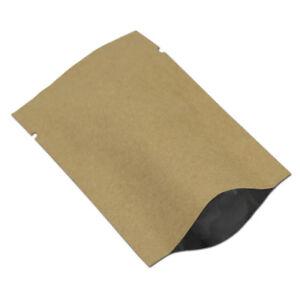 Open Top Aluminum Foil Mylar Bag Kraft Paper Vacuum Heat Seal Food Packing Pouch