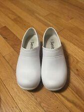 Sanita Womens Motion Comfort Clog Shoes White Slip Resistant 36