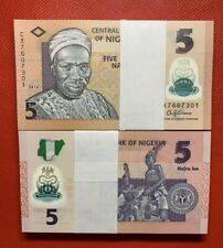 More details for lot 100 pcs, nigeria 5 naira, 2009-2019, p-38, polymer, unc
