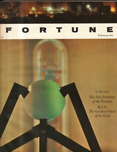 1961 Fortune February - MIT; United, American airlines; ITT; Palm Springs; Tax
