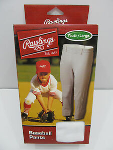 Rawlings Deluxe Youth Baseball Pants White NEW