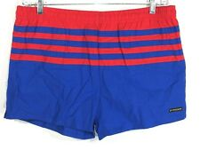 McGregor Swim Shorts Vintage Lined Blue Red Striped Mens Medium Waist 35 inches