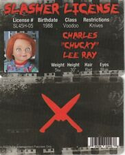 Psycho Doll CHUCKY Slasher fake ID i.d card driver's Drivers License