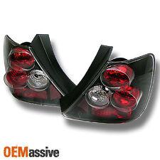 Fits 02-05 Honda Civic Si 3Dr Hatchback Ep3 JDM Black Tail Brake Lights Lamp Set