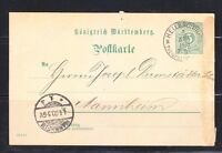 Germany Reich Postkarte Post card 1900 Heilbrown to Mannheim.Used
