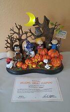2004 Danbury Mint Peanuts Welcome Great Pumpkin Lighted Sculpture