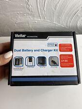 Vivitar Dual Battery LP-E8 & Charger Kit for Canon EOS 650D 700D Rebel T4i T5i