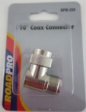 RoadPro RPM-359 CB Radio Adapter / 90 Degree Coax Cable Connector