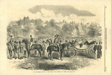 The volunteer review in Hyde Park: The Princess of Wales 1864 antique ILN page