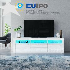 160cm TV Lowboard Schrank Hochglanz Fronten Fernsehtisch mit LED-Beleuchtung