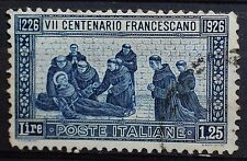 1926  ITALIA  VII Centenario Francescano   1,25  Centesimi  dent  13 1/2